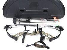 Bear Cruzer RH Compound Hunting Bow Bundle w/Arrows Release & Plano Hard Case