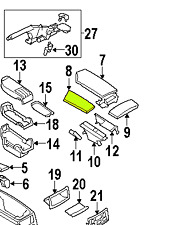 BMW 5 Series (E60 E61) 02 - 10 OEM Console Armrest Cover 51167060169 Black