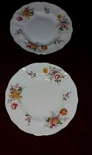 A pair of Royal Crown Derby English Bone China Posies pattern  dessert plates