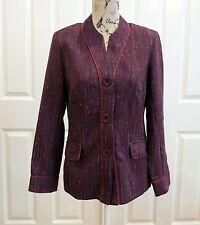 LEESA FASHIONS Purple Jacket Size 10, Vintage Style