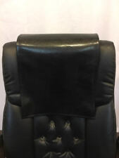 "Recliner 14"" x 30"" Black Houston, Head Rest Cover Vinyl Sofa seat Chaise"