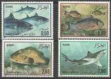 Timbres Poissons Algérie 831/4 * (30730)