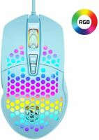 Gaming Mouse RGB Backlit 7 Buttons 6400DPI Honeycomb Shell 75G for PC Laptop PS4