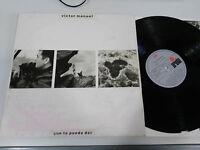 """VICTOR MANUEL QUE TE PUEDO DAR LP VINYL VINILO 12"""" ARIOLA G+/VG - 1988"""
