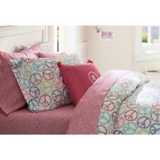 Pb Teen Pottery Barn 2 Standard pillow Case Shams Funky Peace Sign Multi