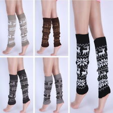 Womens Winter Warm Cable Knit Christmas Leg Warmers Over knee Long Boot Socks