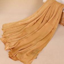 "100% Silk Women Large Long Scarf Shawl Wrap Scarves Hijab Maxi Solid 69""*39"""
