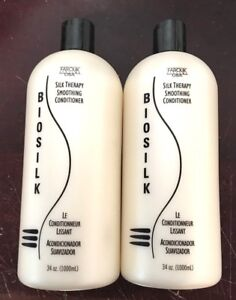2 bottle of Biosilk Farouk Systems Silk Therapy Smoothing conditioner 68oz