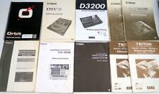 Anleitung Korg D3200 Triton Roland JP8080 Yamaha 01V96 AW4416 MOXF6