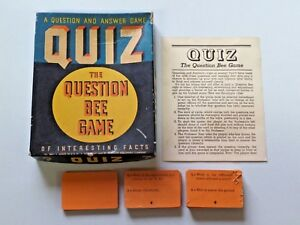 Vintage Whitman Publishing Co. Quiz The Question Bee Game 1939 No. 3933 in Box