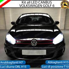 KIT LED VW GOLF 6 ANABBAGLIANTI + ABBAGLIANTI + DIURNE + POSIZIONE CANBUS 3.0