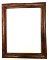 Picture Frame Vintage Dark Brown Wood fits 14x11 Inches Picture Frame 13.5x16.5
