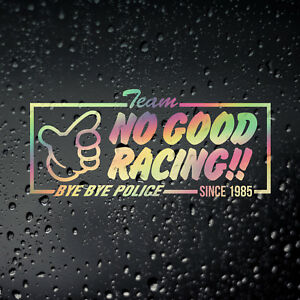 Team No Good Racing Gold Oil Slick Sticker, JDM Japanese Kanjo Racer Honda Civic
