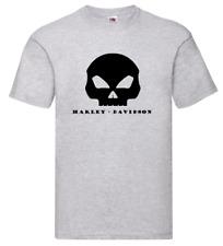 Maglietta T-Shirt motorcicle moto Harley Davidson Inspired Mid Skull