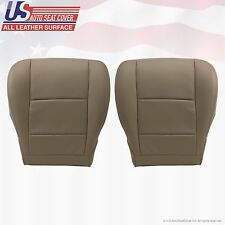 Driver & Passenger Bottom All Leather Seat Cover Tan Fit2001-2004 TOYOTA SEQUOIA