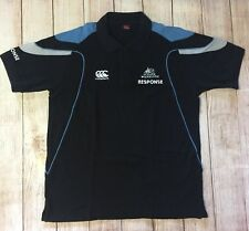 Canterbury New Zealand Mens Xl Rugby Polo Shirt Glasgow Warriors Response Black