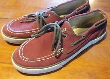 Polo By Ralph Lawen - Men's Size 10.5 - Red with White Stitching and Grey Laces