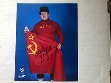 Nikolai Volkoff Wwf/Wwe Signed 8x10 Photofile Photo