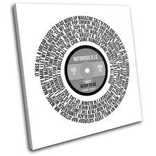 Notorious B.I.G. Juicy Vinyl Record Lyrics Song Canvas Wall Art Picture Print