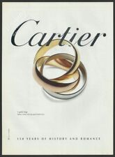 CARTIER 3 gold rings - 1997 Print Ad