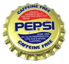 Pepsi cola Caffeine Free tapita estados unidos soda bottle cap plástico sellado