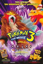 POKEMON 3: THE MOVIE Movie POSTER 27x40 Veronica Taylor Eric Stuart Rachael
