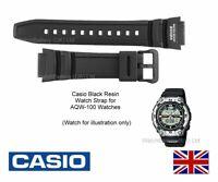 Genuine Casio Watch Strap Band for AQW-100 AQW-100-1 - Black Water Resist 200M