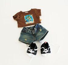 Build A Bear Clothes Dino Outfit Treasure Map Tee Jean Shorts Converse High Tops