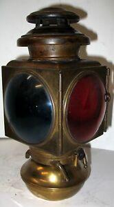 E&J BRASS 2 TIER OIL TAIL LAMP 1909-12 MODEL T FORD HUPMOBILE STANLEY EMF 30