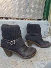 bottes bottines tout cuir noires pointure 39 occasion bon état général ART