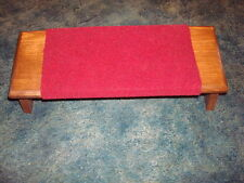 Prayer bench, lge size, covered with material for comfort, folding, NEW ITEM