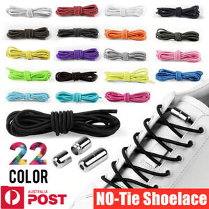 No Tie Easy Lock Elastic Shoelaces Shoe Laces Lazy Laces Sneakers Kids Adults