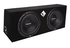"New Rockford Fosgate R1-2X10 10"" 800 Watts Dual Loaded Subwoofer Sub Enclosure"