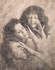 "Hendrickson Original Photo Sepia FRIENDS PLAYING TELEPHONE 11x14"""