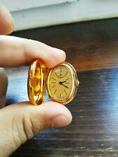 VINTAGE RARE 70s-80s Pocket Watch Royal  Swiss Made Gold Plated