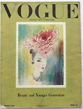 Vogue August Antiques & Collectables Magazines