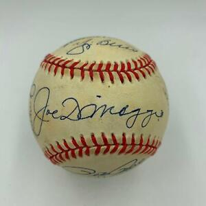 Extraordinary All Century Team Signed Baseball With Joe Dimaggio Hank Aaron JSA