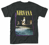 Official Nirvana T Shirt Stage Jump Black Classic Grunge Rock Metal Band Tee New
