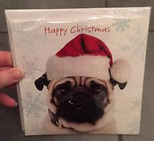 🎄SALE🎄 PUG DOG CHRISTMAS CARDS ...  Pack Of 10 .... Xmas Santa **REDUCED**