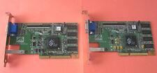 Lot of 2: ATI Rage Pro AGP 8MB Video Graphics Card PN: 109-4800-11 Dell PN 0320D