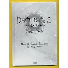 DEATH NOTE 2 THE LAST NAME SOUNDTRACK MUSIC NOTE CD MUSICALE