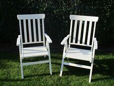 2 Ikea Gartenstühle weiss lasiert Holz Neu klappbar