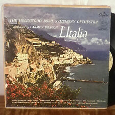 Carmen Dragon L'Italia Hollywood Bowl Symphony LP Capitol FDS VG