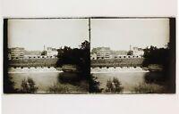 Ville A Identificare Francia Belgium Placca Da Lente Stereo Vintage 6x13cm