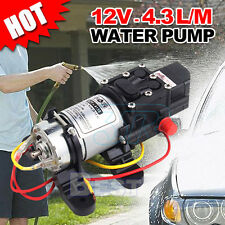 12V 4.3Lpm Self-Priming Water Pump High Pressure Caravan Camping Boat AU POST