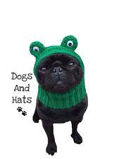 The Frog Dog hat. Hoody, snood. Pug, Boston Terrier, French BullDog, Whippet