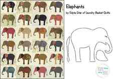 Elephants Quilt Pattern by Laundry Basket Quilts