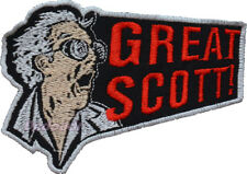Back to the Future Embroidered Patch Great Scott Phrase Doc Brown Time Machine