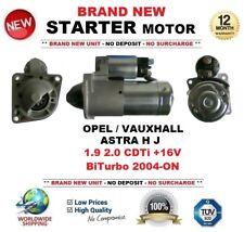 FOR OPEL VAUXHALL ASTRA H J 1.9 2.0 CDTi +16V BiTurbo 2004-ON STARTER MOTOR 10T