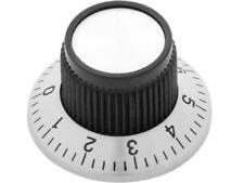Potiknopf 23.6mm Drehknopf Reglerknopf Alu Schwarz Potentiometer mit 6 mm Achse